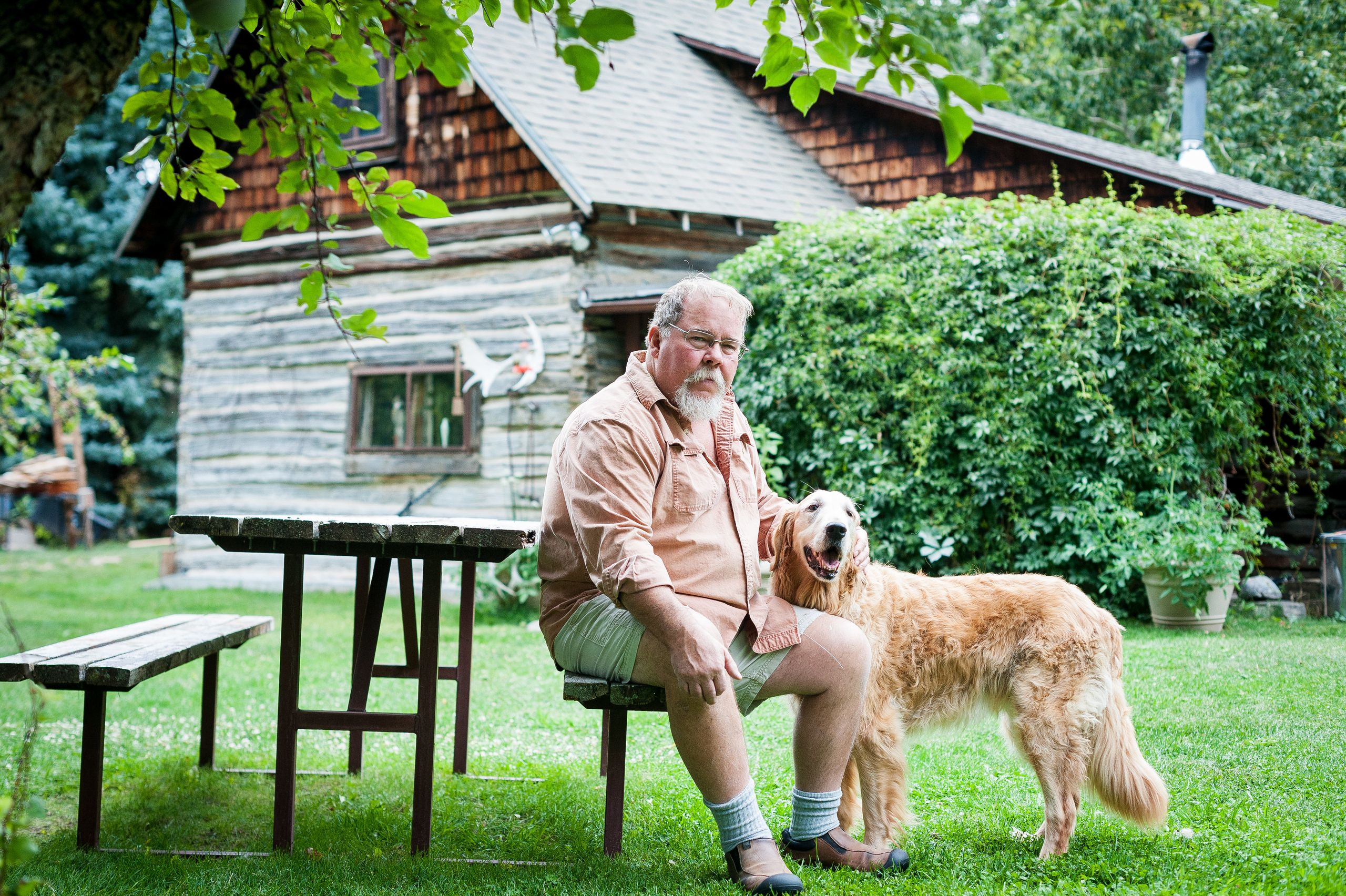 Dick Murphy lives with his dog, Annie, in a cabin along Mission Creek, east of Livingston.