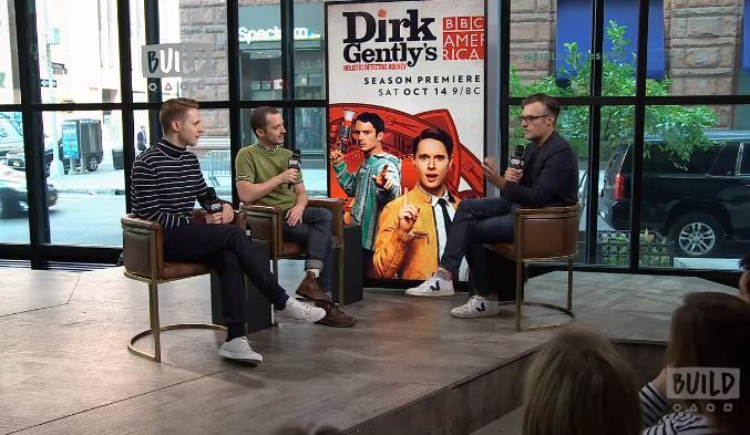 "Samuel Barnett and Elijah Wood discuss the latest season of BBC America's ""Dirk Gently's Holistic Detective Agency."""