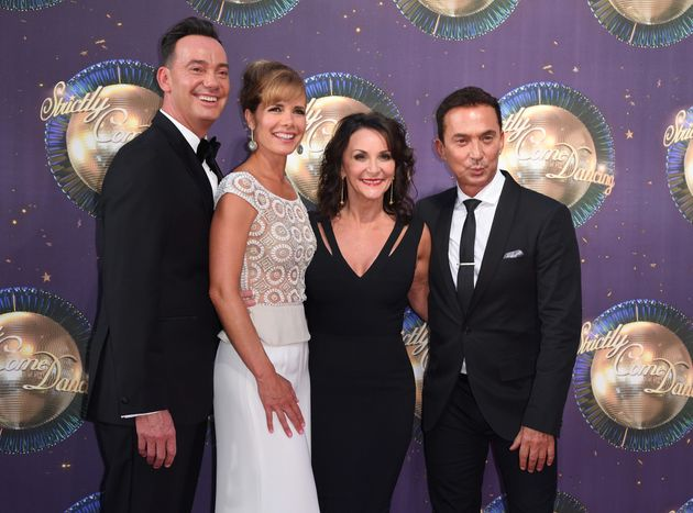 The 'Strictly' judges: (l-r)Craig Revel Horwood, Darcey Bussell, Shirley Ballas and Bruno