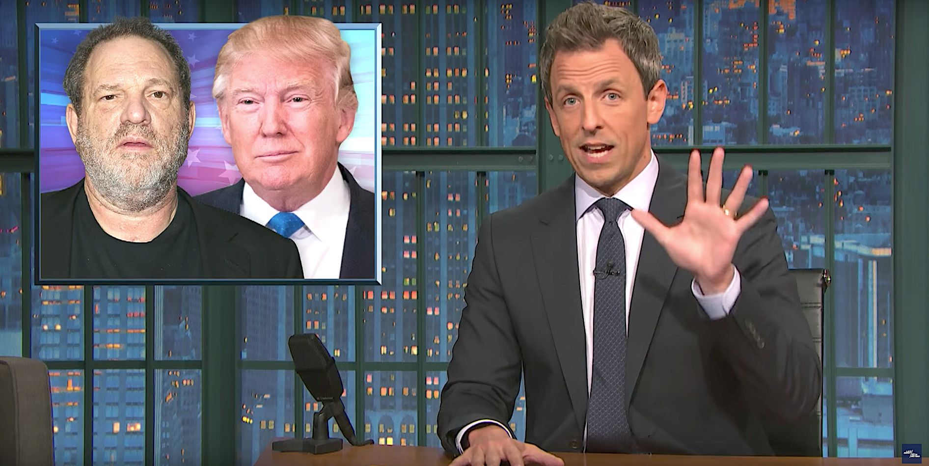 Seth Meyers Rips 'Systemic Misogyny' That Enables 'Powerful, Predatory Men'