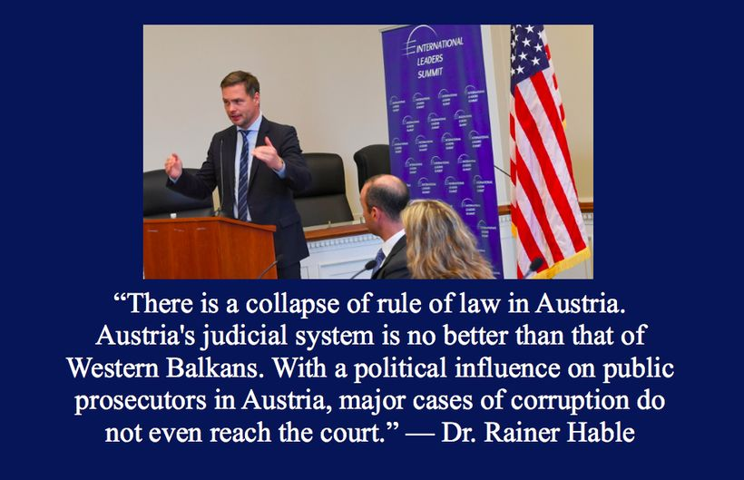 Dr. Rainer Hable, Member of Austria's parliament and author of a parliamentary investigative report on Hypo Group Alpe Adria