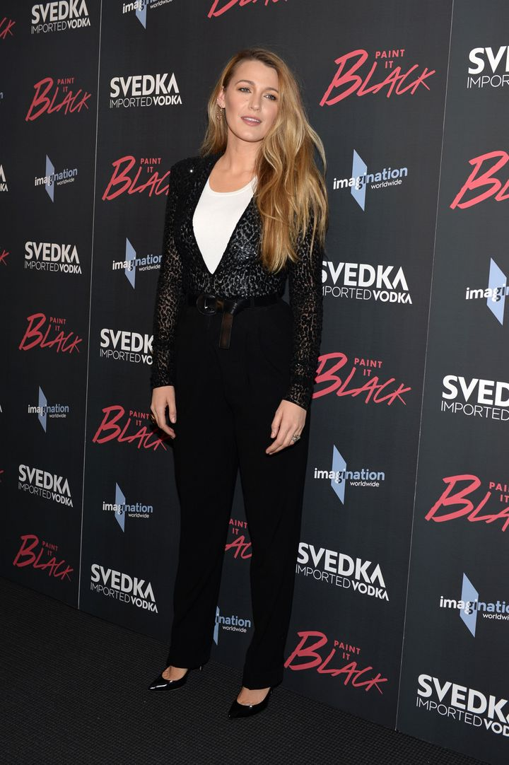 "Blake Lively attends the ""Paint It Black"" New York premiere."