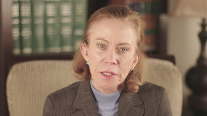 A clip from a video in which Kathleen Hartnett White claims there are benefits to increased carbon dioxide in the atmosp