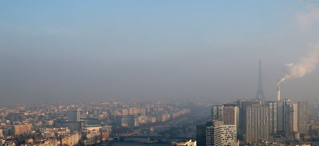 Smog clinging to the skyline of Paris. Indoor air pollution isn't always as visible as outdoor