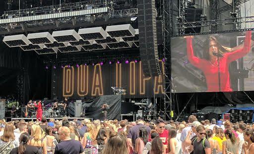 Dua Lipa dazzles at Atlanta's Music Midtown on September 16, 2017.
