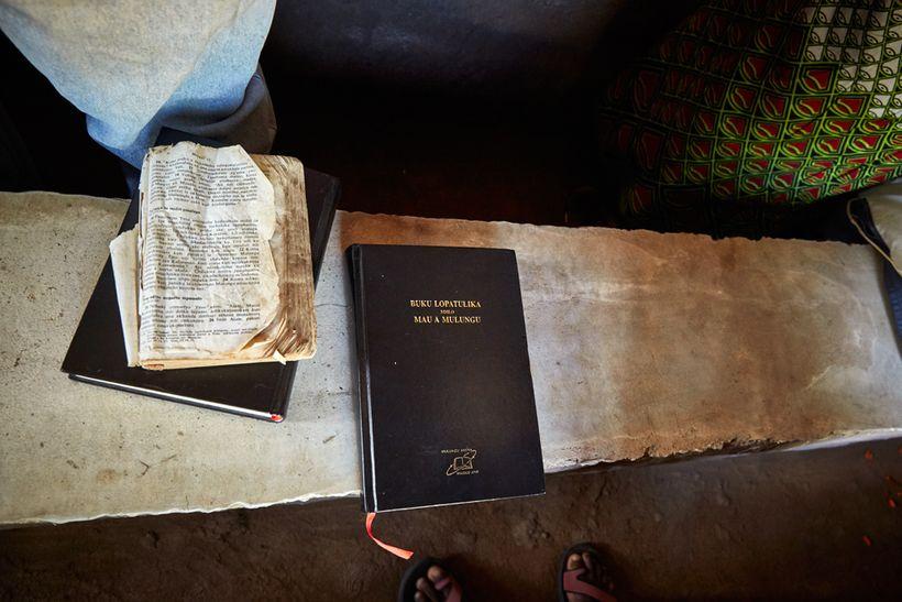 A bible belonging to Elias Jamson, Luchenza, southern Malawi, 2017.