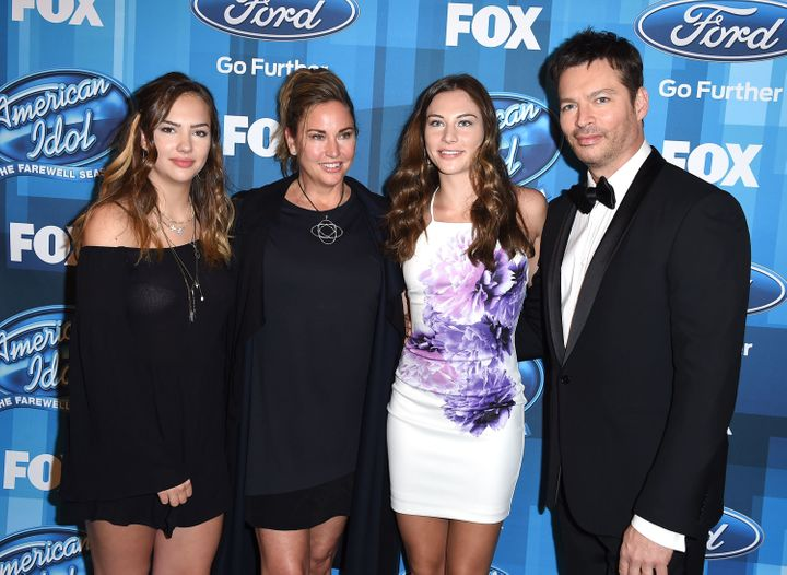 Charlotte Connick, Jill Goodacre, Kate Connick and recording artist Harry Connick, Jr. arrive at the FOX's 'American Idol' Fi
