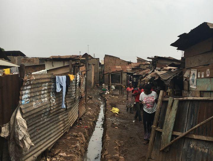 An urban slum in Kampala, Uganda