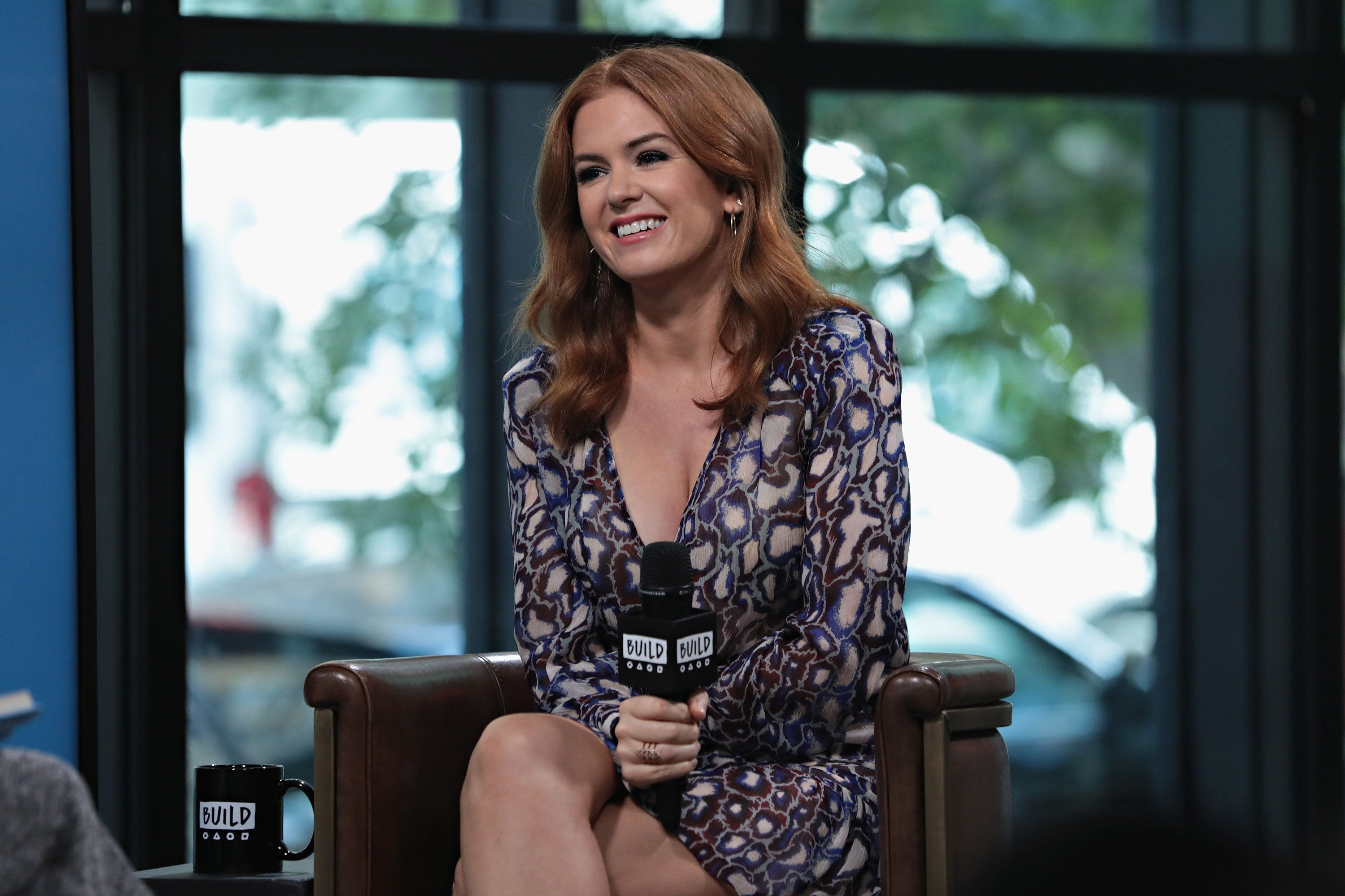 NEW YORK, NY - OCTOBER 03:  Build presents Isla Fisher discussing her book 'Marge In Charge' at Build Studio on October 3, 2017 in New York City.  (Photo by Cindy Ord/Getty Images)