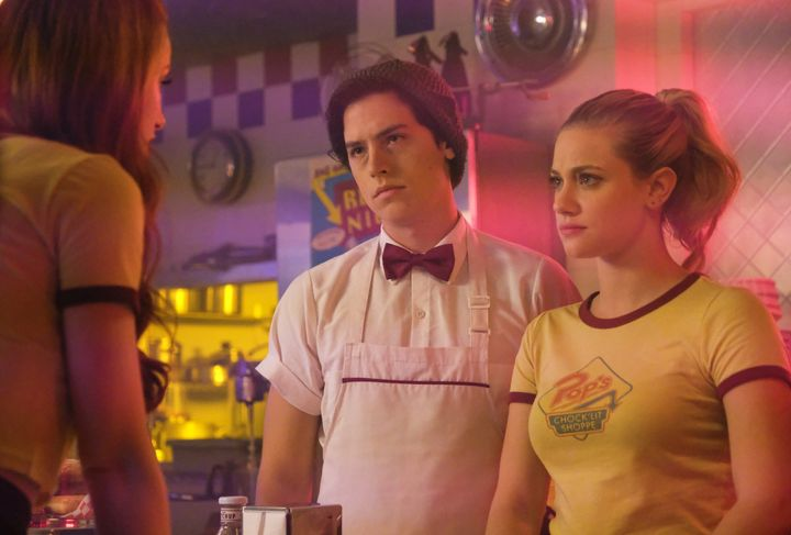 "Lili Reinhart and Cole Sprouse in ""Riverdale."""