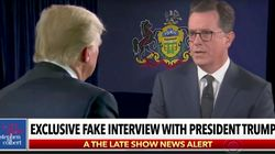 Colbert Delivers Hardest Hitting Fake Interview With President