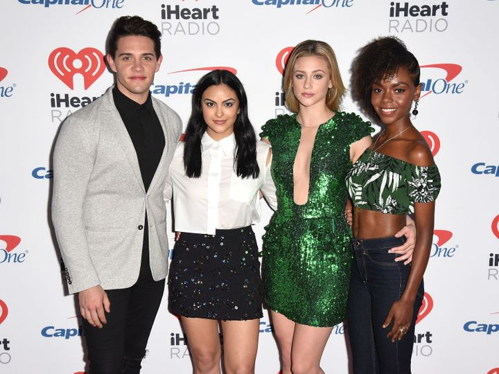 "Reinhart and her ""Riverdale"" co-stars."
