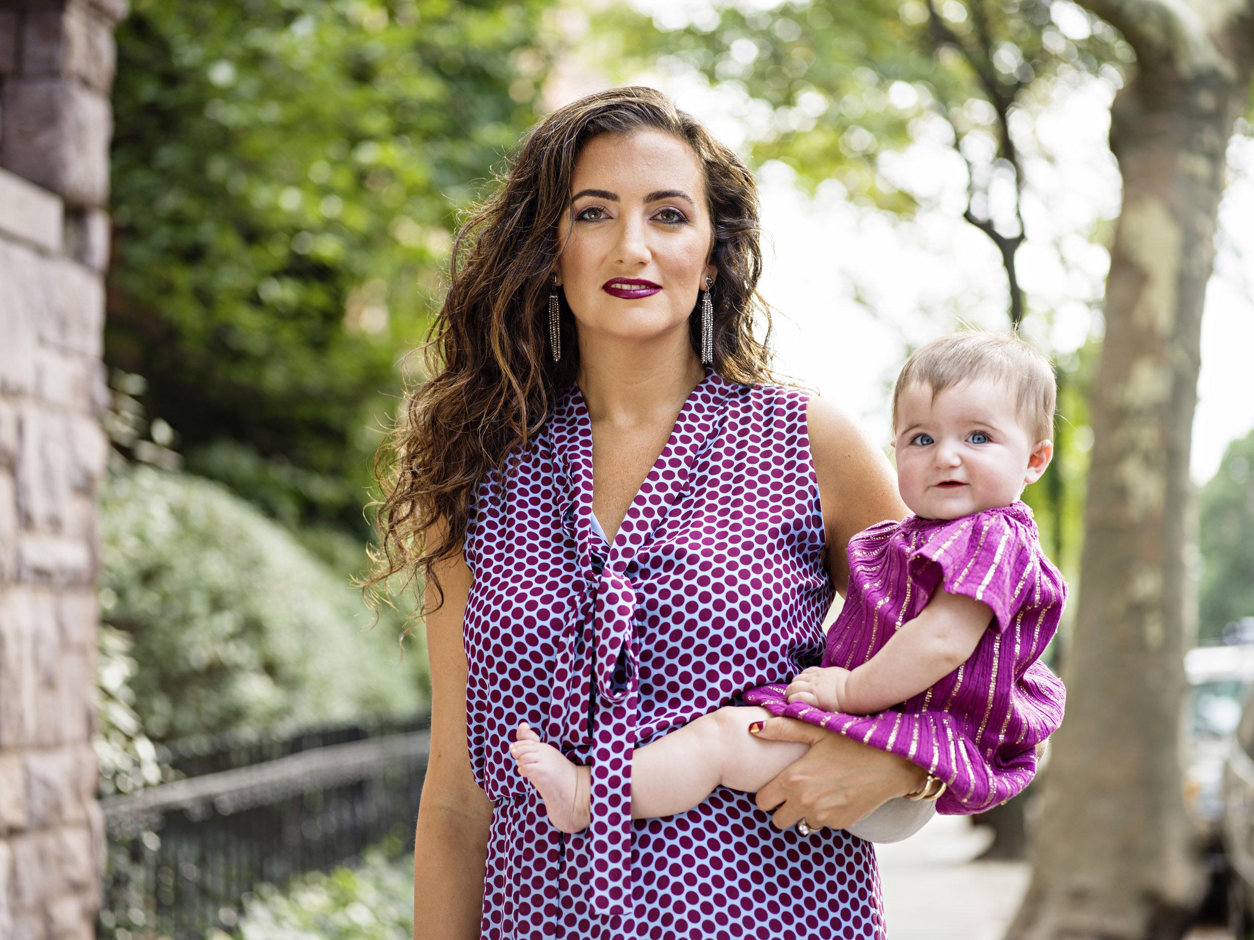Jennifer Hyman with her daughter Aurora