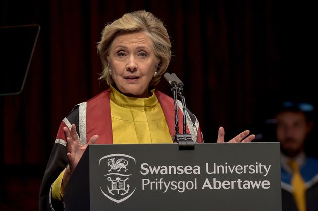 Hillary Clinton commented on the Brexit process during a speech at Swansea University on