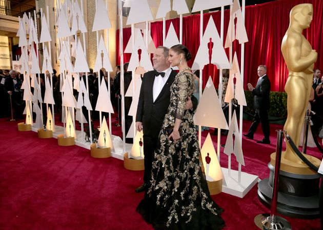 Harvey with wife Georgina Chapman at the 2015 Academy Awards: Over the years, his films have won 81