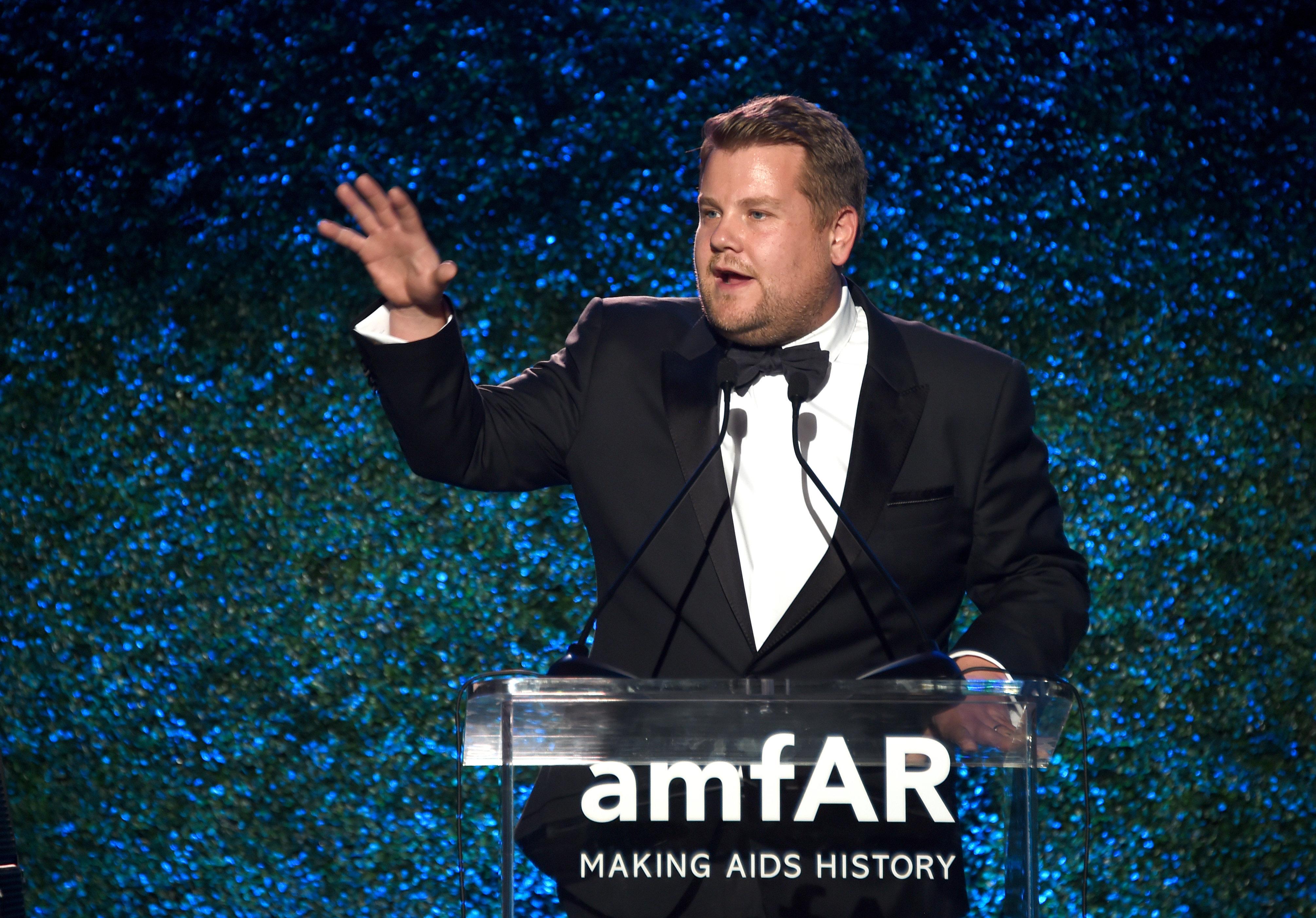 James Corden's Harvey Weinstein Jokes Elicit Groans,