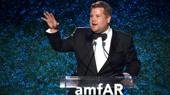 BEVERLY HILLS, CA - OCTOBER 13: James Corden at amfAR Los Angeles 2017 at Ron Burkle's Green Acres Estate on October 13, 2017 in Beverly Hills, Californi  (Photo by Kevin Tachman/amfAR2017/Getty Images)