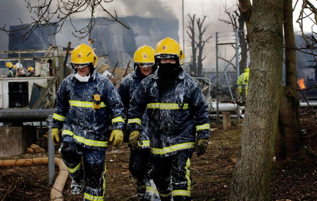 Firefighters in the line of