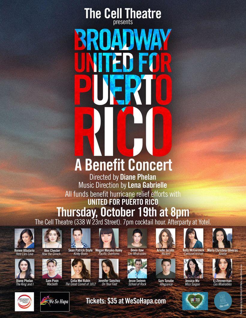 MISS SAIGON, ALADDIN, SCHOOL OF ROCK, WICKED Actors Unite For Starry Puerto Rico Benefit Oct. 19