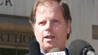 BIRMINGHAM, AL - APRIL 13:  Former U.S. Attorney Doug Jones speaks to reporters Wednesday, April 13, 2005 in Birmingham Alabama. Doug Jones was the U.S. Attorney during the 1998 bombing of an abortion clinic which killed an off duty police officer and injured Emily Lyons. Rudolph plead guilty to setting off a bomb that injured Lyons and killed an off duty police officer.  (Photo by Brian Schoenhals/Getty Images)