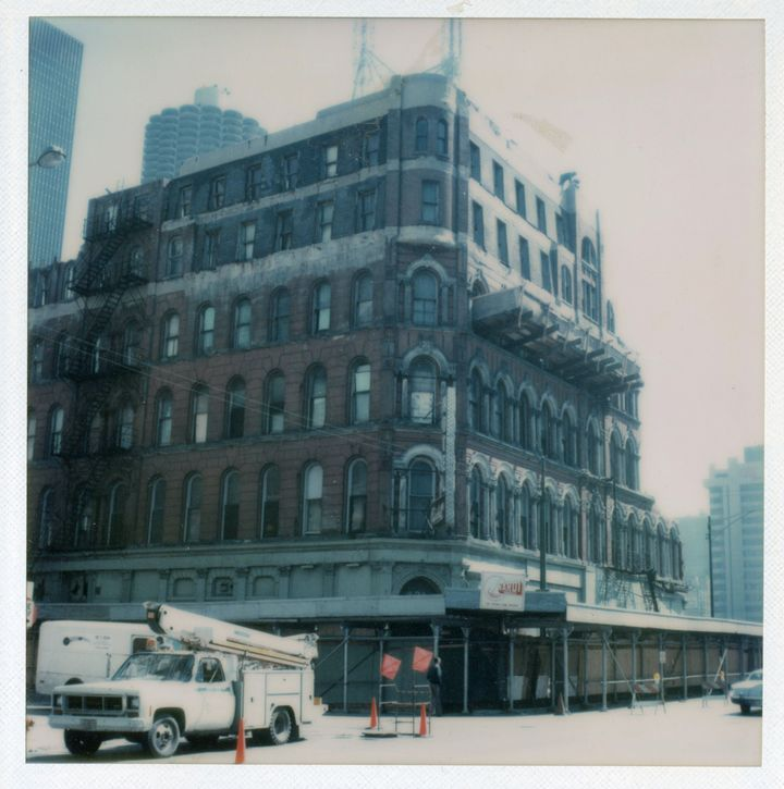 <p>The Capitol Hotel at 417 N. Clark St. Chicago in the 1970s. In previous decades, guests had included Gloria Swanson and the jury of the Haymarket Riot Trial. Now the site of AMLI River North (southeast corner of Clark and Hubbard Streets).</p>