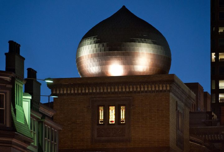 <p>Restored onion dome of the Medinah Temple in Chicago</p>