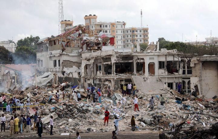 Twin bombings in the Somali capital ofMogadishu has resulted in at least 263 deaths