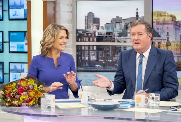 Charlotte Hawkins and Piers Morgan on Monday's 'Good Morning