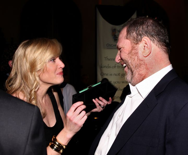 Kate Winslet and producer Harvey Weinstein photographed together in 2009.