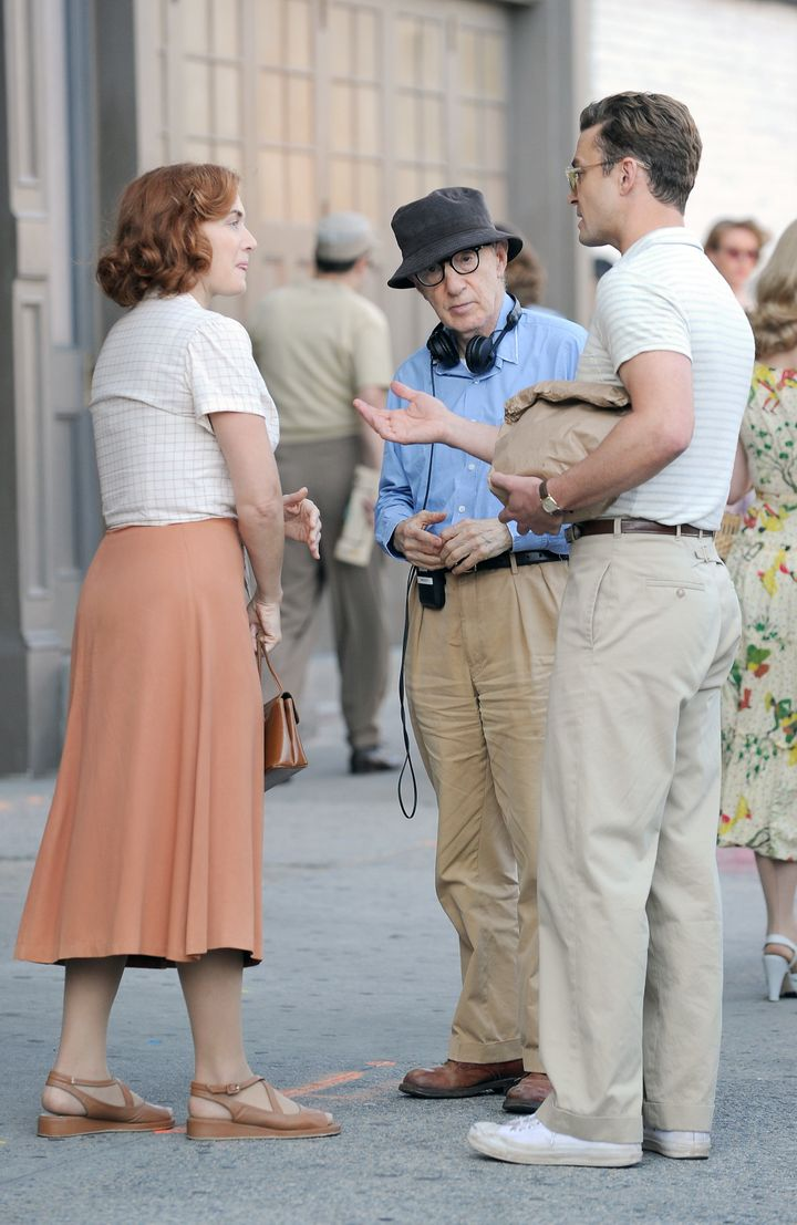 "Kate Winslet, Woody Allen and Justin Timberlake film scenes for ""Wonder Wheel."""