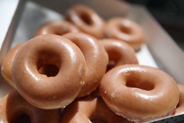 Daniel Rushing, 65, says he still eats Krispy Kreme doughnuts every other week despite the