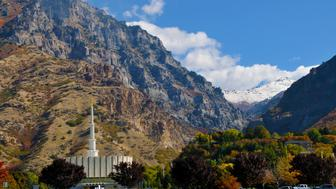 The original design for the Provo Utah Temple included a gold-leafed statue of the angel Moroni atop a gold-colored spire. The statue was eventually eliminated from the design, though one was added over 31 years after its dedication.