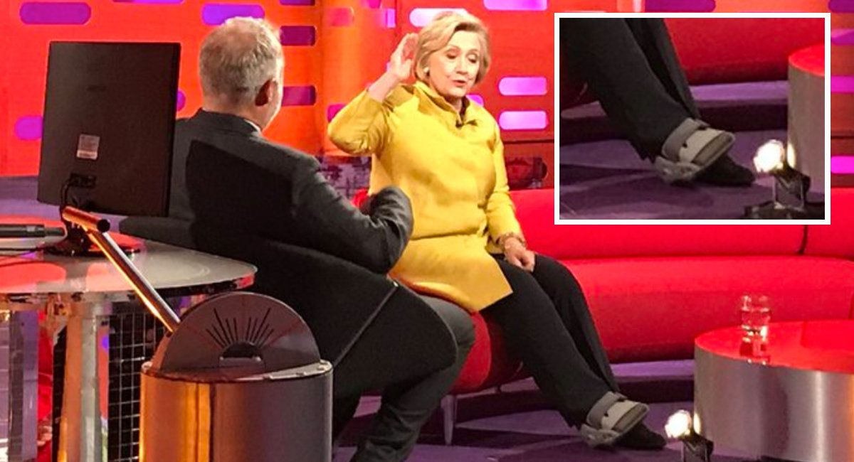 Hillary Clinton Pictured In Foot Brace As She Misses Interviews After
