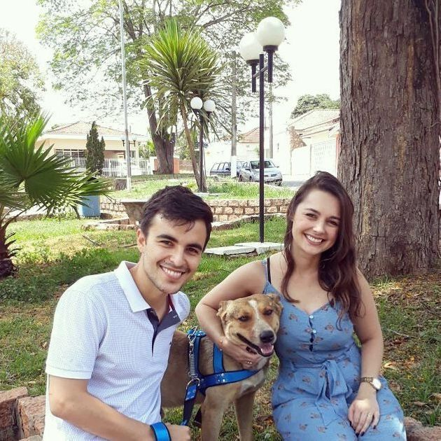 A happy family,