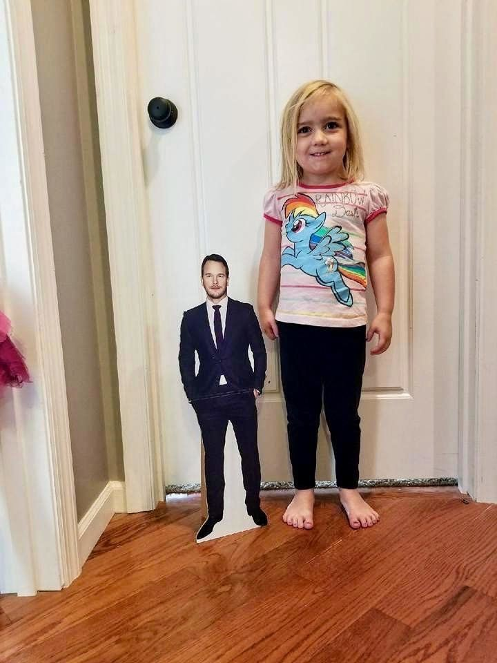 Amelia Healey adores actor Chris Pratt so much, she has a cutout of him.