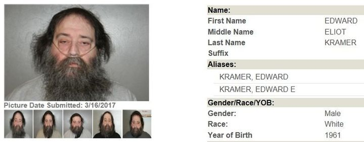 Edward Kramer's profile on the Georgia Bureau of Investigation Sex Offender registry.