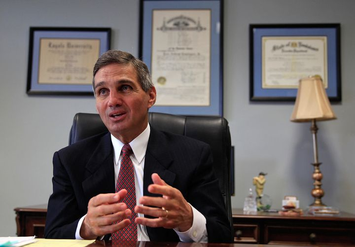 Orleans Parish District AttorneyLeon Cannizzaro, pictured here on April 6, 2015, now faces a lawsuit from the ACLU and
