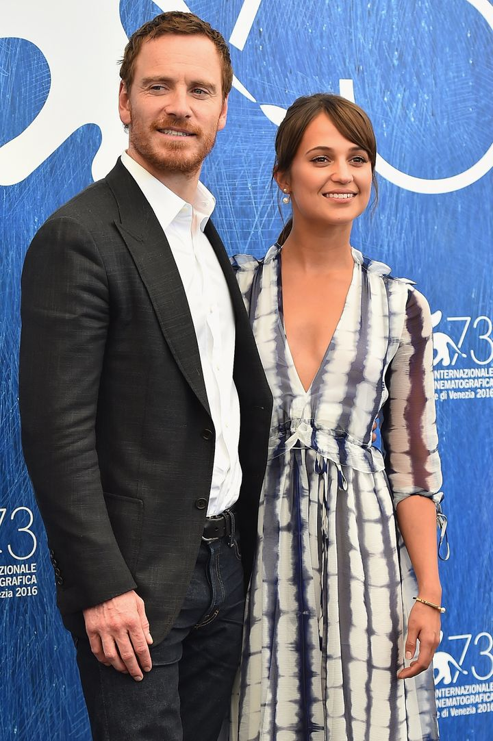 Michael Fassbender and Alicia Vikander at the 73rd Venice Film Festival.
