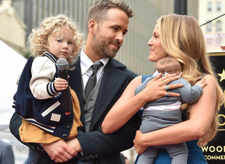 Ryan, Blake and their two daughters last year when the actor was honored with astar on the Hollywood Walk of Fame.