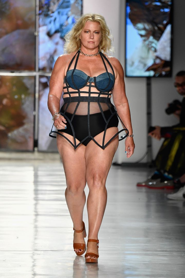 54-year-old model Emme walked at Chromat on Sept. 8 for New York Fashion Week.