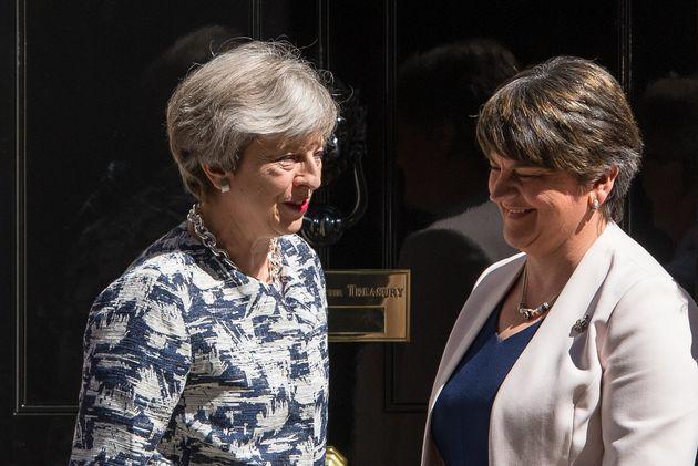Theresa May and the DUP leader Arlene