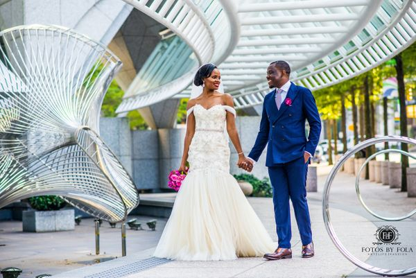 """Georgette and Edwin had a beautiful Cameroonian wedding."" -- <i>Afolabi Sogunro  </i><strong>  </st"