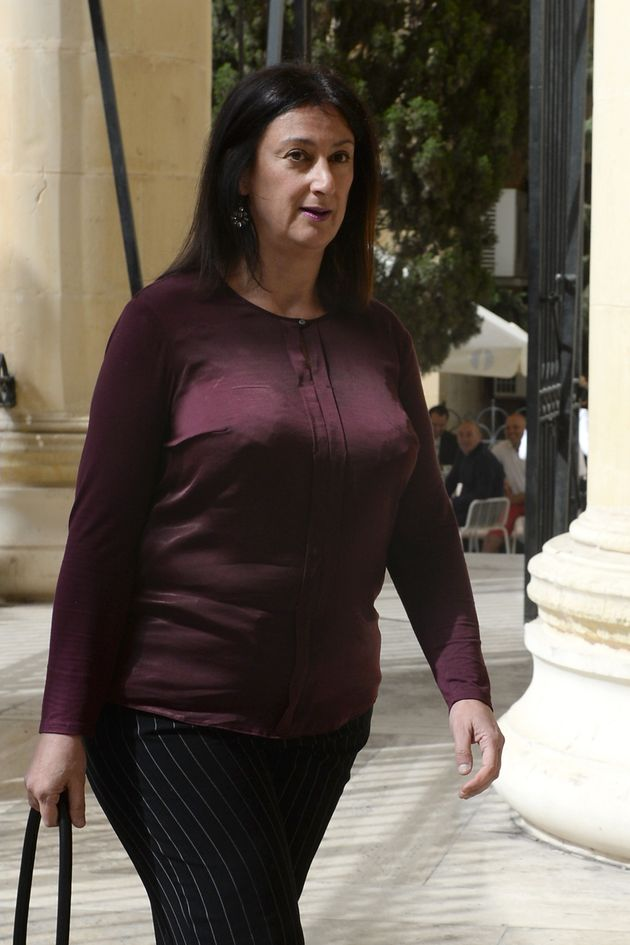 Journalist and blogger Daphne Caruana Galizia pictured in