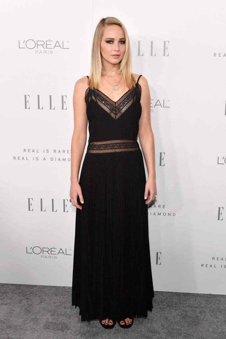 Jennifer Lawrence attends ELLE's 24th Annual Women in Hollywood Celebration.