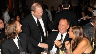 NEW YORK, NY - FEBRUARY 09:  Harvey Weinstein, Michael Kors and Donna Karan attends the amfAR New York Gala to kick off Fall 2011 Fashion Week at Cipriani Wall Street on February 9, 2011 in New York City.  (Photo by Kevin Mazur/WireImage)
