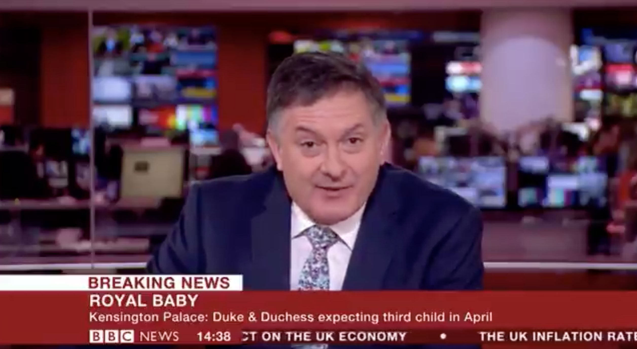 BBC Newsreader Simon McCoy Gives A Masterclass in How To Report The Royal Baby Due Date