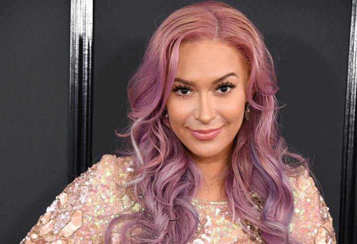 Kaya Jones at the 2017 Grammys.