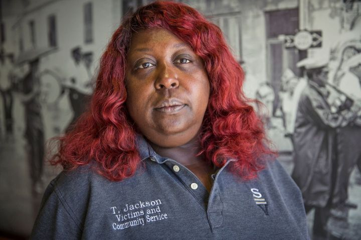Tamara Jackson of the New Orleans organization Silence Is Violence.