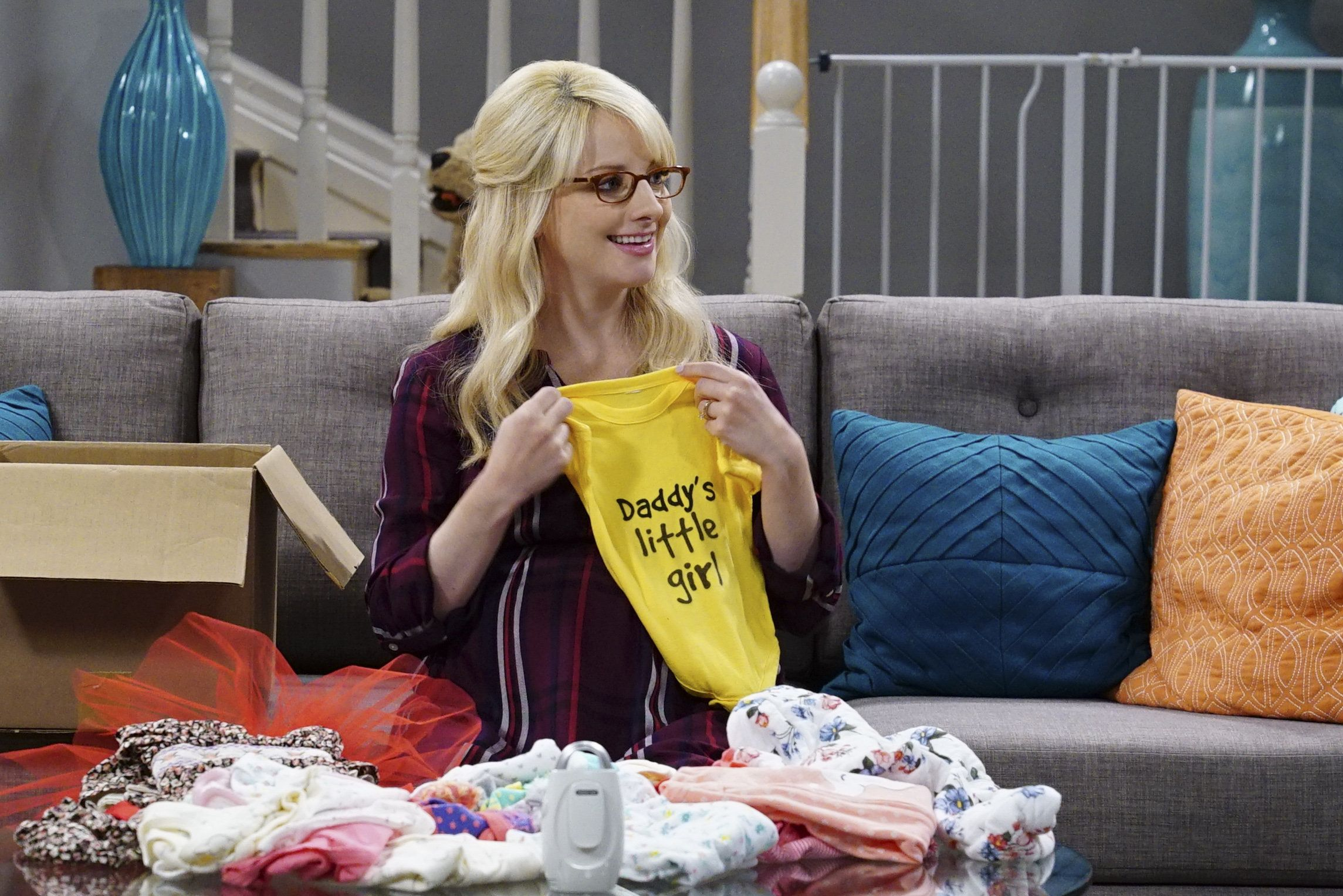 LOS ANGELES - SEPTEMBER 12: 'The Explosion Implosion' - Pictured: Bernadette (Melissa Rauch). Howard and Sheldon bond when they drive to the desert to shoot off a model rocket.   Also, when Leonard's mom, Beverly (Christine Baranski), finds a new best friend in Penny, it rubs Leonard the wrong way, on THE BIG BANG THEORY, Monday, Oct. 16 (8:00-8:31 PM, ET/PT), on the CBS Television Network. (Photo by Monty Brinton/CBS via Getty Images)