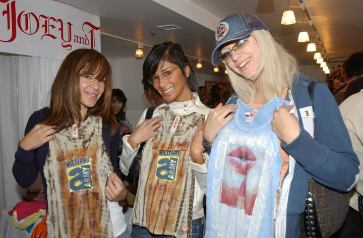 Pussycat Dolls Robin Antin, Nicole Kea and Kaya Jones pose in 2004.